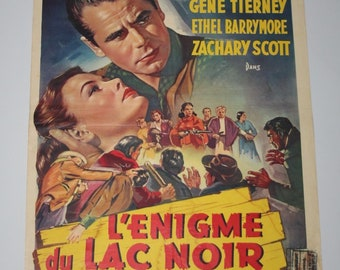 Vintage Belgian Film / Movie Poster - The Secret of Convict Lake - 1951