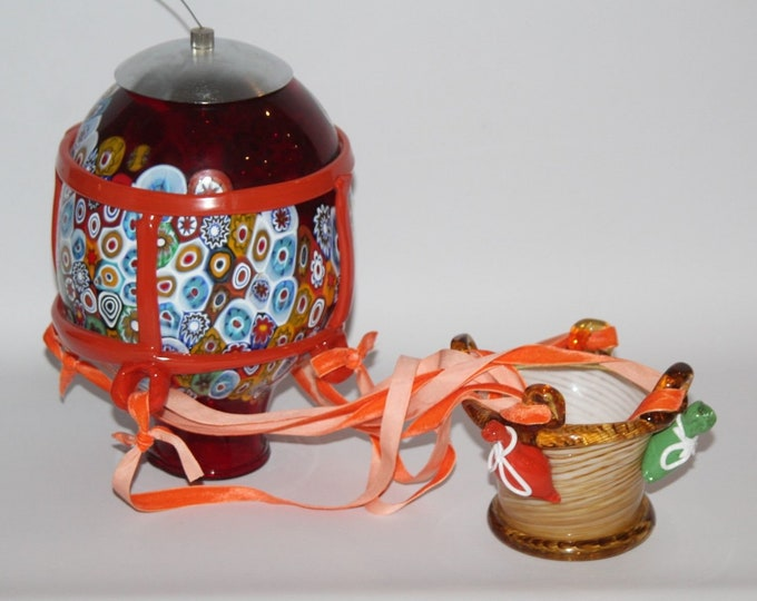 Featured listing image: CC Zecchin - Murano Art Glass - Suspended Hot Air Balloon with Clowns - Rare