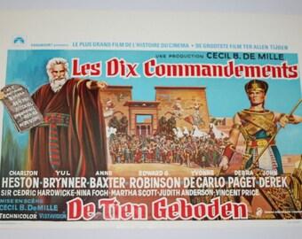 Vintage Belgian Film / Movie Poster - The Ten Commandments - 1956