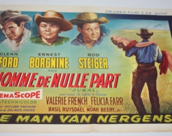 Vintage Belgian Film / Movie Poster - Jubal - Glenn Ford - 1956