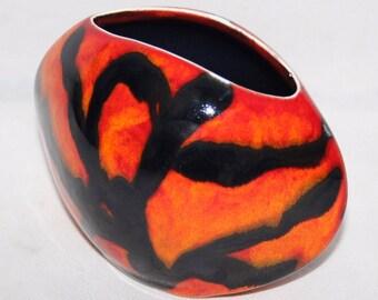 "Anita Harris Art Pottery - Tiger Stripe - 4"" Pillow Vase - New"