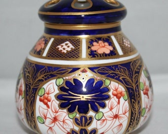 Royal Crown Derby - Imari 1128 - Lidded Pot Pourri - 1910 - vgc