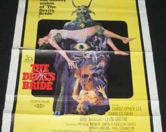 US One Sheet Film Poster - The Devil's Bride - Christopher Lee - 1968