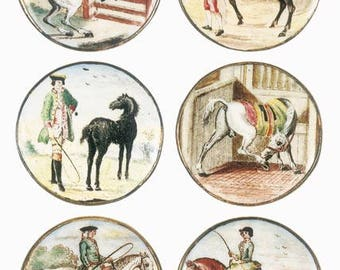 Blank Greetings Card - Battersea Buttons, Circa 1755