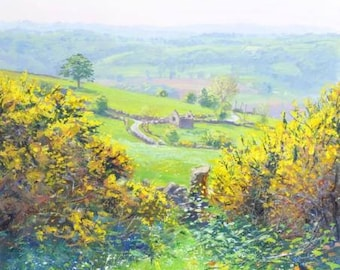 "Mark Preston - Spring From Alport Heights - 2001 Signed Original, 20"" x 22"""