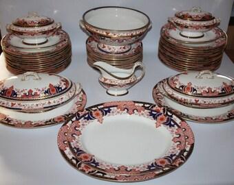 Antique Royal Crown Derby - Imari 2151 - 52 Piece Dinner Service for 12 - c1888