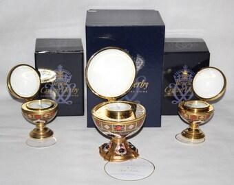 Royal Crown Derby - Imari 1128 - Millenium Globe Clock, Barometer & Thermometer