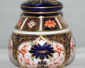 Royal Crown Derby - Imari 1128 - Lidded Pot Pourri - 1918 - vgc