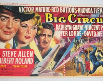 Vintage Belgian Film / Movie Poster - Big Circus - Victor Mature - 1959