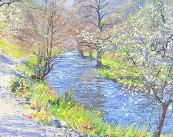 "Mark Preston - Spring Sunshine, Wolfscote Dale - 2002 Signed Original, 17"" x 16"""