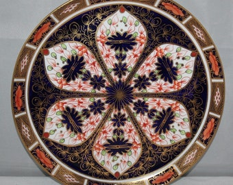 "Royal Crown Derby - Imari 1128 - 9"" Cake Plate - 1922 - vgc"