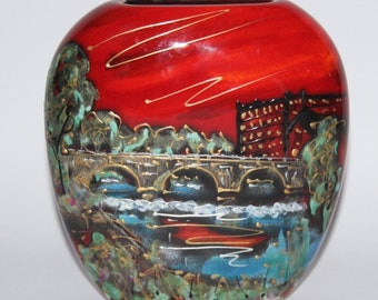 Anita Harris Art Pottery - The Belper Heritage Collection - Small Purse Vase
