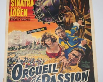 Vintage Belgian Film / Movie Poster - The Pride and the Passion - 1957