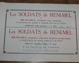 Les Soldats de Reni-Mel - Complete set of 25 WW1 engravings - Ltd ed - 173/300