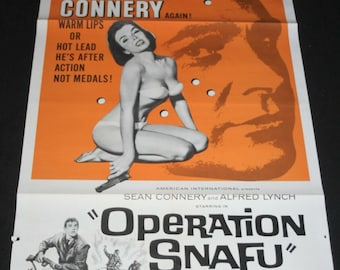 US One Sheet Film Poster - Operation Snafu - Sean Connery - 1965