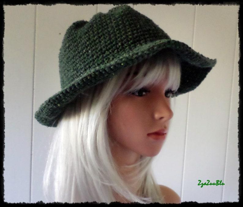 45071071c2efc1 Green Tweed Cotton Sun Hat Floppy Hat Festival Style | Etsy