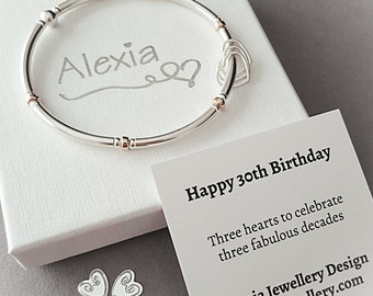 30th Birthday Bracelet Gift For Her Ideas Daughter Sterling Silver