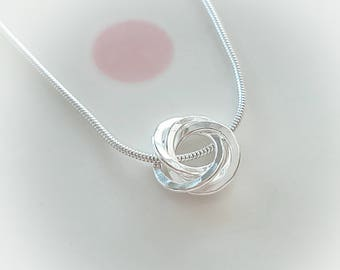40th Birthday Necklace Gift For Her Ideas Daughter 4 Rings Decades