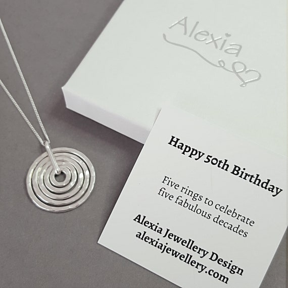 50th Birthday Necklace Gift For Her