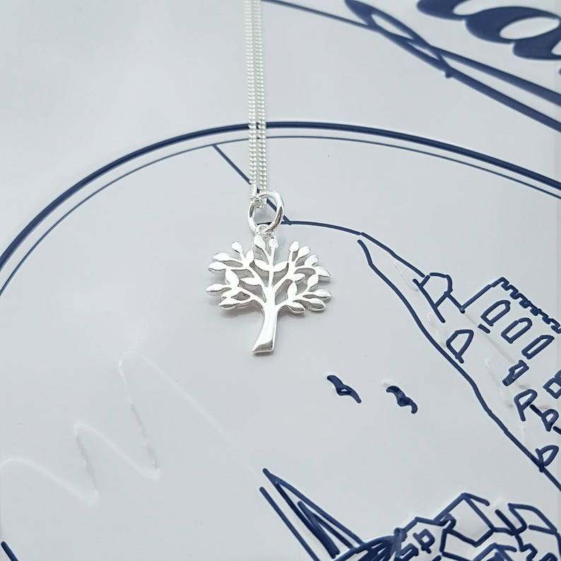 a36bf6901 Family Tree Necklace Sterling Silver Family Tree Necklace | Etsy