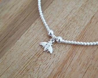 Sterling Silver Bee Bracelet, Silver Bee Bracelet, Bee Bracelet, Silver Bee, Bee Charm, Bee, Gift For Her, Gift Ideas