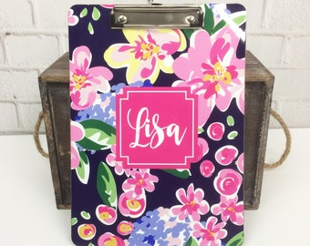 Custom Mary Beth Goodwin Design Clipboard - Choice of 18 Patterns, Frame, Monogram - Personalized Clip Board 2 Sided Dry Erase Surface
