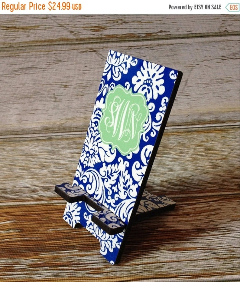 d955aa3f58e82 Personalized Cell Phone Stand Device Holder Charger in 2 Sizes - Choice of  Design, Frame & Monogram - Design Your Own