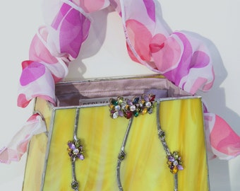 Pretty in Yellow Stained Glass Handbag