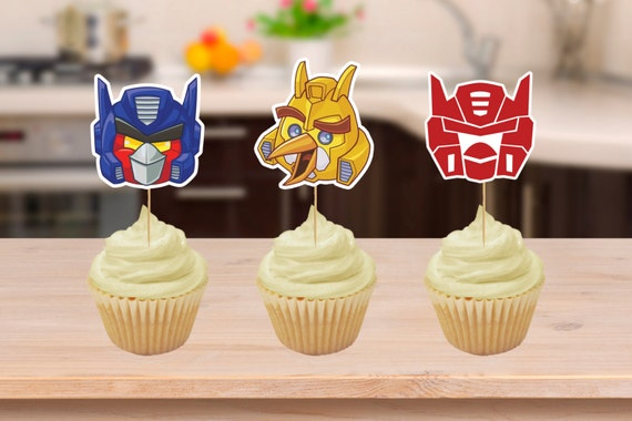 Angry Bird Transformers Party Cupcake Toppers Printables