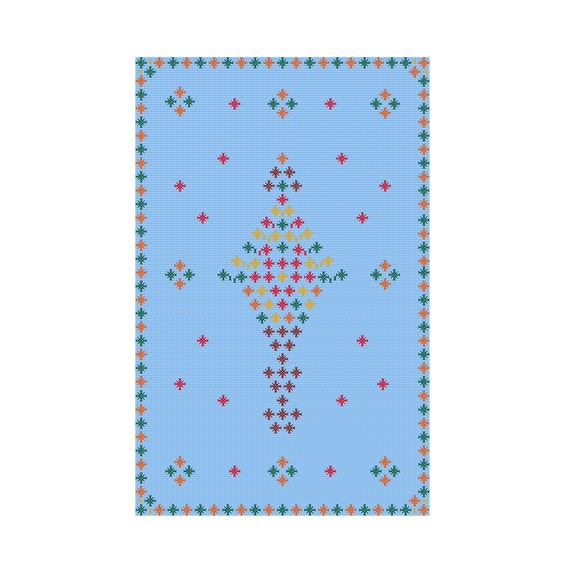 Counted Merry Christmas Tree Cross Stitch Pattern Snowflakes Instant Pdf File Chart 2 Greeting Card Digital Download Decor Gift Geometric