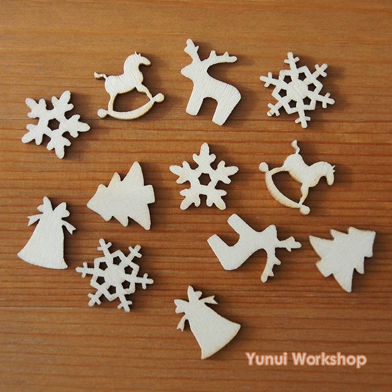 Home & Garden Buttons Objective 50pcs Christmas Holiday Wooden Collection Snowflakes Buttons Snowflakes Embellishments 18mm Creative Decoration