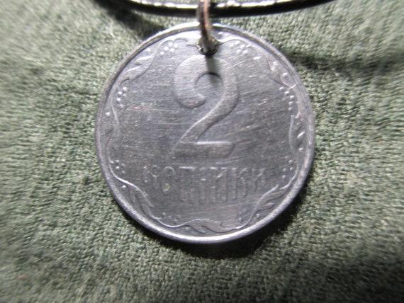 2009 Ukraine 2 kopiiki Coin pendant jewelry necklace