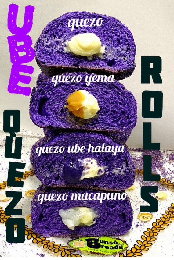 Ube Quezo Rolls 6 ct, Use coupon code IWILLPICKUP for pick-up orders