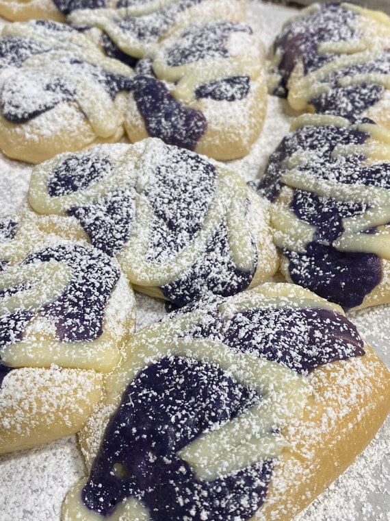 Ube Cream Cheese Pillow Bread 8ct, Use coupon code IWILLPICKUP for pick-up orders