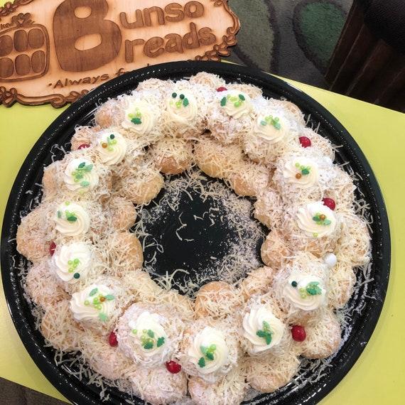 HOLIDAY ITEM Christmas Wreath Ensaymada Balls 46 ct 3 Flavors