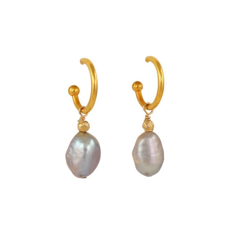 Grey Drop Pearls image 0