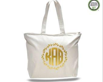 eefa1bded5 Kappa Alpha Theta Tote Bag- Monogram Bag- Tote bag -Gold Foil- Greek  Licensed