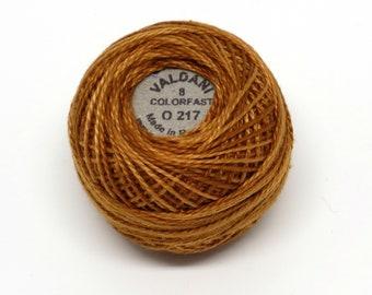 Valdani Pearl Cotton Thread Size 12 Variegated: #O217 Yummy Pumpkin