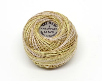 Valdani Pearl Cotton Thread Size 12 Variegated: #O576 Weathered Hay