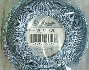 Lizbeth Metallic Thread: #320 Steel Blue