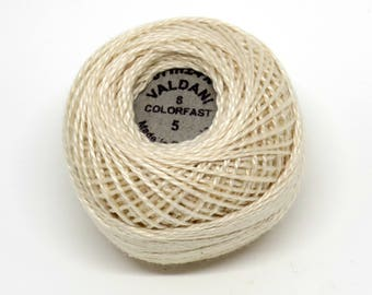 Valdani Pearl Cotton Thread Size 8 Solid: #5 Light Ecru