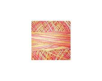 Lizbeth Thread Size 10 Variegated: #188 Coral Splash
