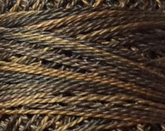Valdani Pearl Cotton Thread Size 12 Variegated: #P9 Bronze Vintage Hues