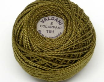 Valdani Pearl Cotton Thread Size 8 Solid: #191 Forest Haze