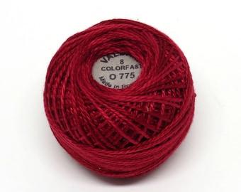 Valdani Pearl Cotton Thread Size 12 Variegated: #O775 Turkey Red