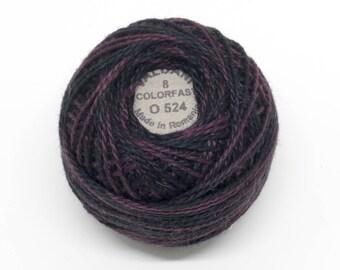 Valdani Pearl Cotton Thread Size 12 Variegated: #O524 Maroon Moss