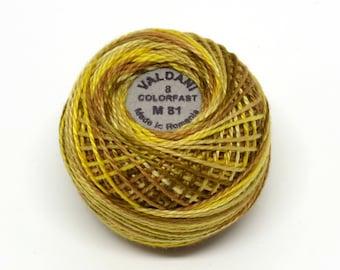 Valdani Pearl Cotton Thread Size 12 Variegated: #M81 Backyard Honeycomb