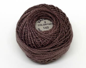Valdani Pearl Cotton Thread Size 8 Solid: #145 Mother Goose Very Dark
