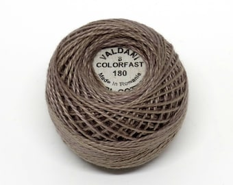 Valdani Pearl Cotton Thread Size 8 Solid: #180 Olive Stone Medium Deep