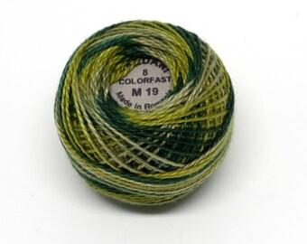 Valdani Pearl Cotton Thread Size 12 Variegated: #M19 Olives